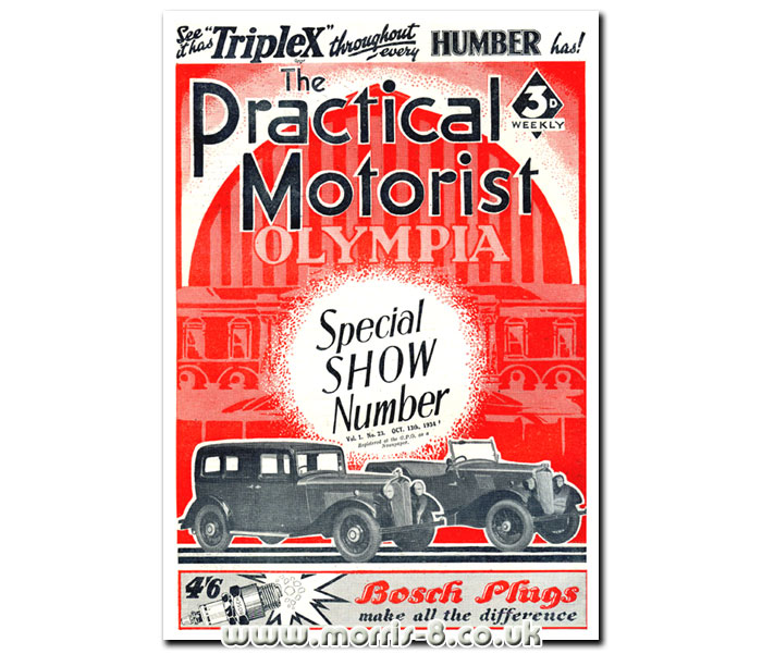 Morris cars feature on the cover of Practical Motorist magazine